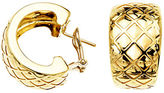 Lord & Taylor 14 Kt. Yellow Gold Textured Huggies Earrings
