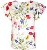 Blugirl printed ribbon blouse