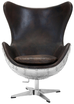 Safavieh Couture Torrington Leather Swivel Chair