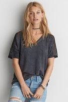 American Eagle Outfitters AE Mesh Shoulder Yoke V-Neck Sweatshirt