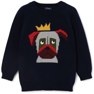 Il Gufo Crowned Dog Sweater (3-12 Years)