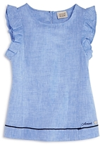 Armani Junior Girls' Linen Top - Big Kid