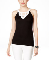 INC International Concepts Sleeveless Cutout Halter Blouse, Only at Macy's