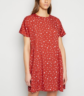 New Look Influence Spot Smock Dress