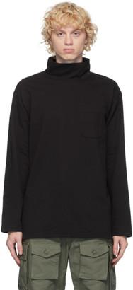 Engineered Garments Black Jersey Mock Turtleneck