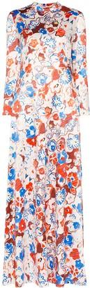 Vika Gazinskaya Floral Print Maxi Dress