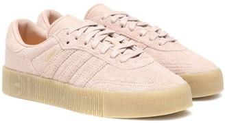 adidas Sambarose suede sneakers