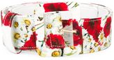 Dolce & Gabbana daisy and poppy print belt