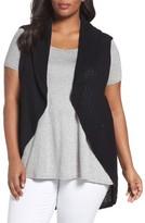 Foxcroft Plus Size Women's Cotton Knit Circle Vest
