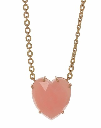 Irene Neuwirth Jewelry Rosecut Pink Opal Heart Necklace