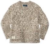 Ralph Lauren Girls' Marled Cable Sweater - Little Kid