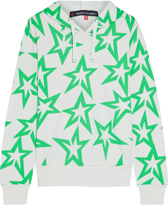Perfect Moment Starlight Printed French Cotton-terry Hoodie