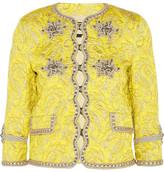 Gucci Metallic Brocade Jacket - Yellow