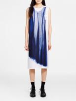 DKNY Silk Midi Dress With Print