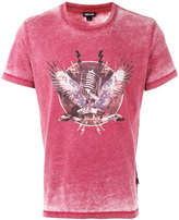 Just Cavalli mic print T-shirt - men - Cotton/Polyester - S