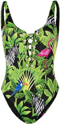 MC2 Saint Barth Tropical Print One-Piece Swimsuit