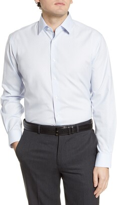 Nordstrom Traditional Fit Non-Iron Dot Dress Shirt