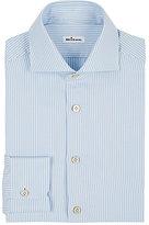 Kiton Men's Striped Twill Shirt-LIGHT BLUE