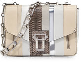 Proenza Schouler Hava Exotic Chain-Strap Shoulder Bag, White/Multi