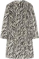Etro Zebra-print alpaca coat