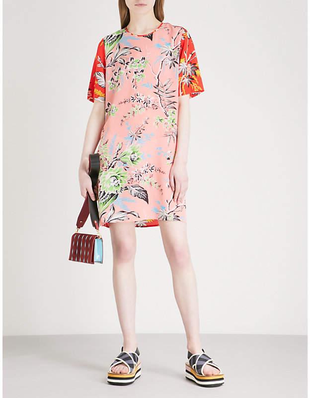 Diane von Furstenberg Striped silk-crepe mini dress