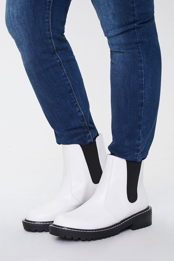 Thumbnail for your product : Forever 21 Faux Leather Chelsea Booties Wide