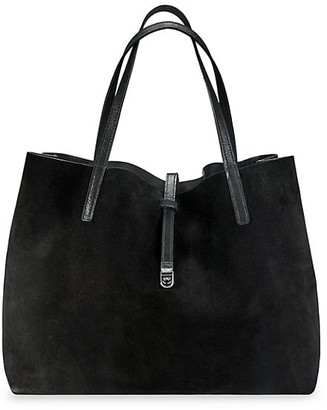 GiGi New York Luna Reversible Metallic Leather & Suede Tote
