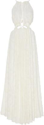 Cult Gaia Thera Flocked Georgette Maxi Dress
