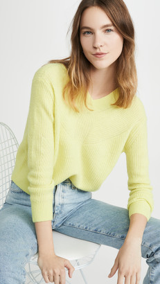 Club Monaco Ribbed V Neck Sweater
