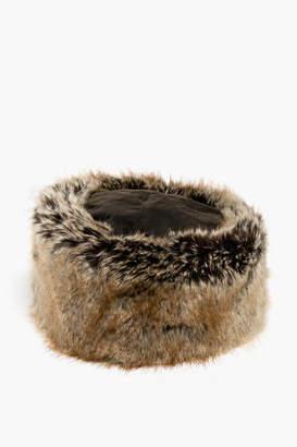 Barbour Olive Ambush Fur Hat