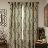 Asstd National Brand Cambridge Home Metallic Grommet-Top Curtain Panel
