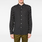 Paul Smith Men's Black 'Split Dot' Print Rayon Shirt