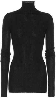 Jil Sander Wool and silk turtleneck sweater