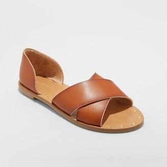Universal Thread Women's Lois Faux Leather Crossband Slide Sandals - Universal ThreadTM