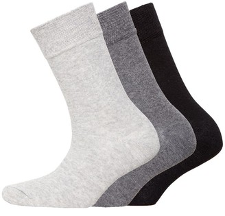 S.O.H.O New York Womens Collection Three Pack Organic Cotton Socks Charcoal
