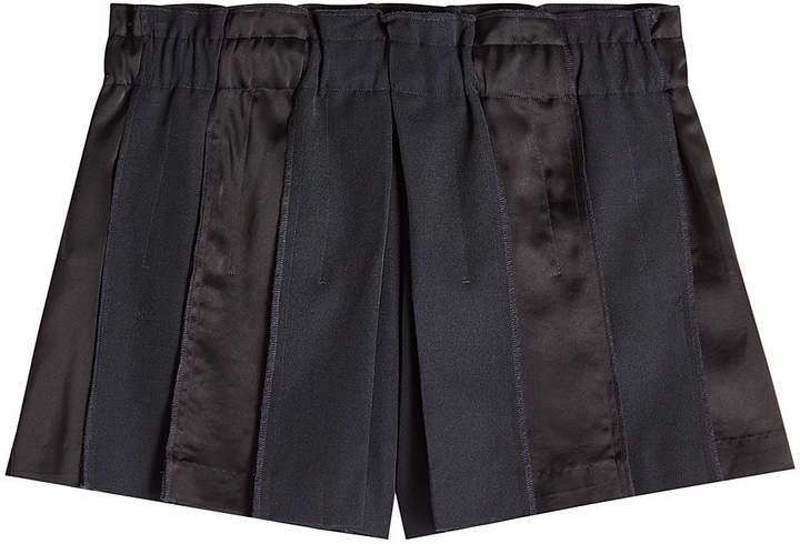 DKNY Wool Shorts with Satin