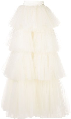 Oscar de la Renta tiered A-line princess skirt