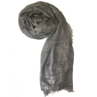 Chanel Silver Wool Scarves