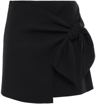 BA&SH Wrap-effect Crepe Mini Skirt