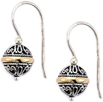 Samuel B. 18K Gold & Sterling Silver Balinese Ball Drop Earrings