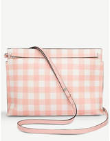 Loewe T Gingham leather pouch