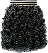 Alexander McQueen knitted ruffle mini skirt - women - Silk/Polyamide/Polyester/Viscose - XS