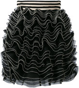 Alexander McQueen knitted ruffle mini skirt