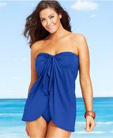 Lauren Ralph Lauren Plus Size Flyaway Tummy-Control One-Piece Swimsuit