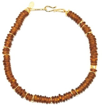 Lizzie Fortunato Laguna Gold-plated Beaded Necklace - Brown