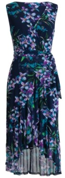 Connected Floral-Print High-Low Dress