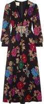 Gucci Embellished Fil Coupé Silk-blend Dress