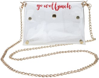 Women's NC State Wolfpack Clear Gold Chain Crossbody Purse
