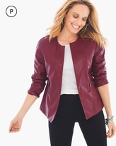 Chico's Swing Faux-Leather Jacket