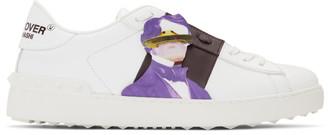 Valentino White Garavani Undercover Edition UFO Face Open Sneakers